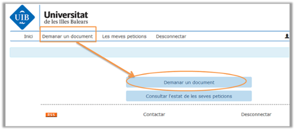 demanar un document